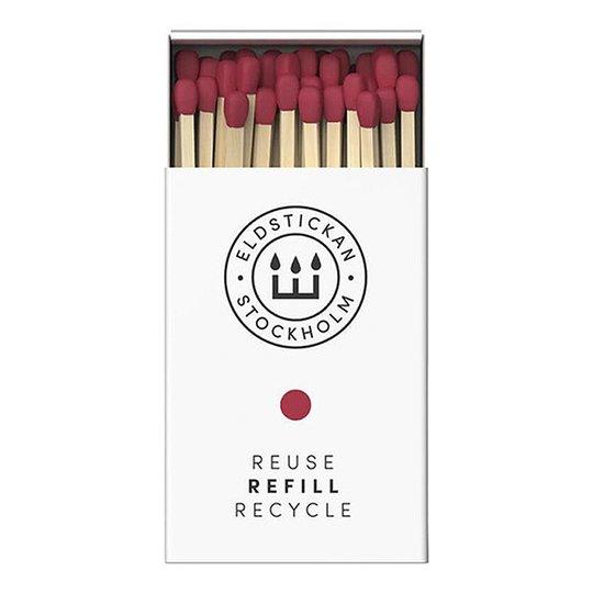 Eldstickan - Tändstickor Refill 60 st Ros