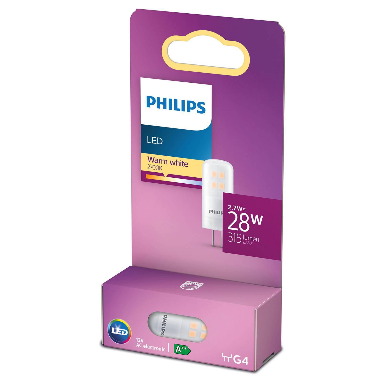 Philips LED-stiftpære G4 2,7 W 2 700 K matt