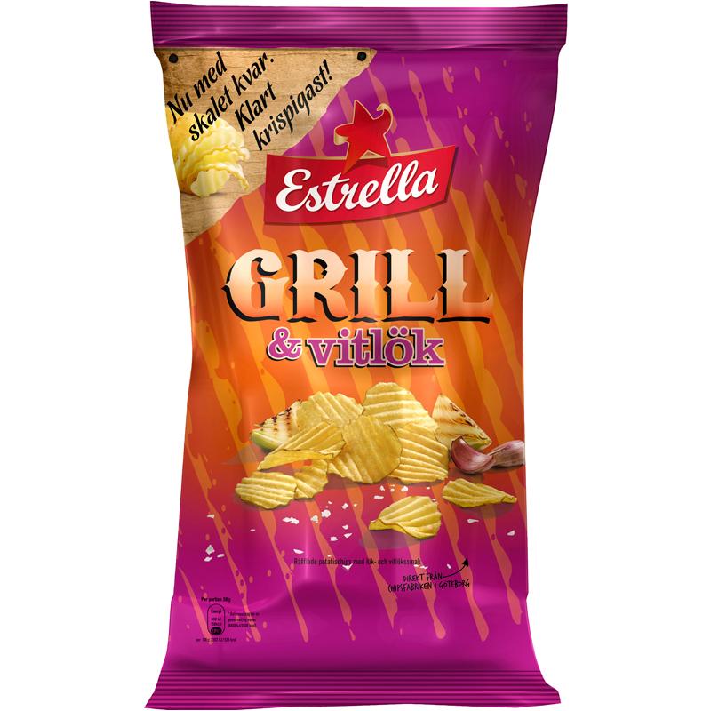 Chips Grill & Vitlök 175g - 15% rabatt