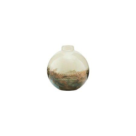 Vase Earth Beige/Metallic 11 cm
