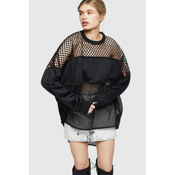 Diesel Women's Sweatshirt Black 298717 - black 2XS