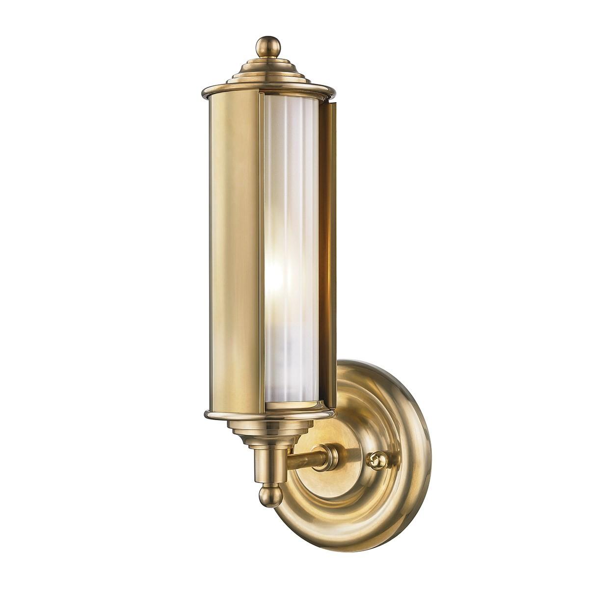 Hudson Valley I Classic No 1 Wall light I Aged Brass