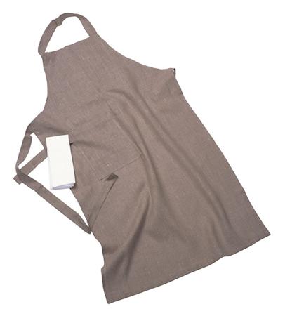 Erik classic langt forkle – Med håndduk, natural