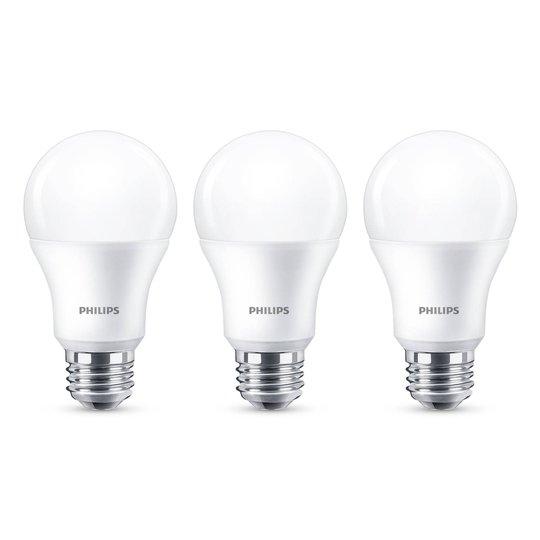 Philips E27 LED-lamppu A60 8W 2 700 K 3 kpl
