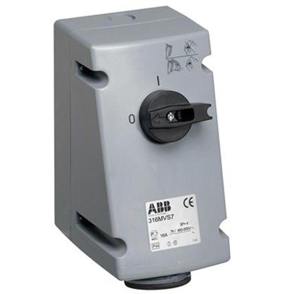 ABB 2CMA167655R1000 Seinäpistorasia IP44, 3P+J, 16 A 500 V