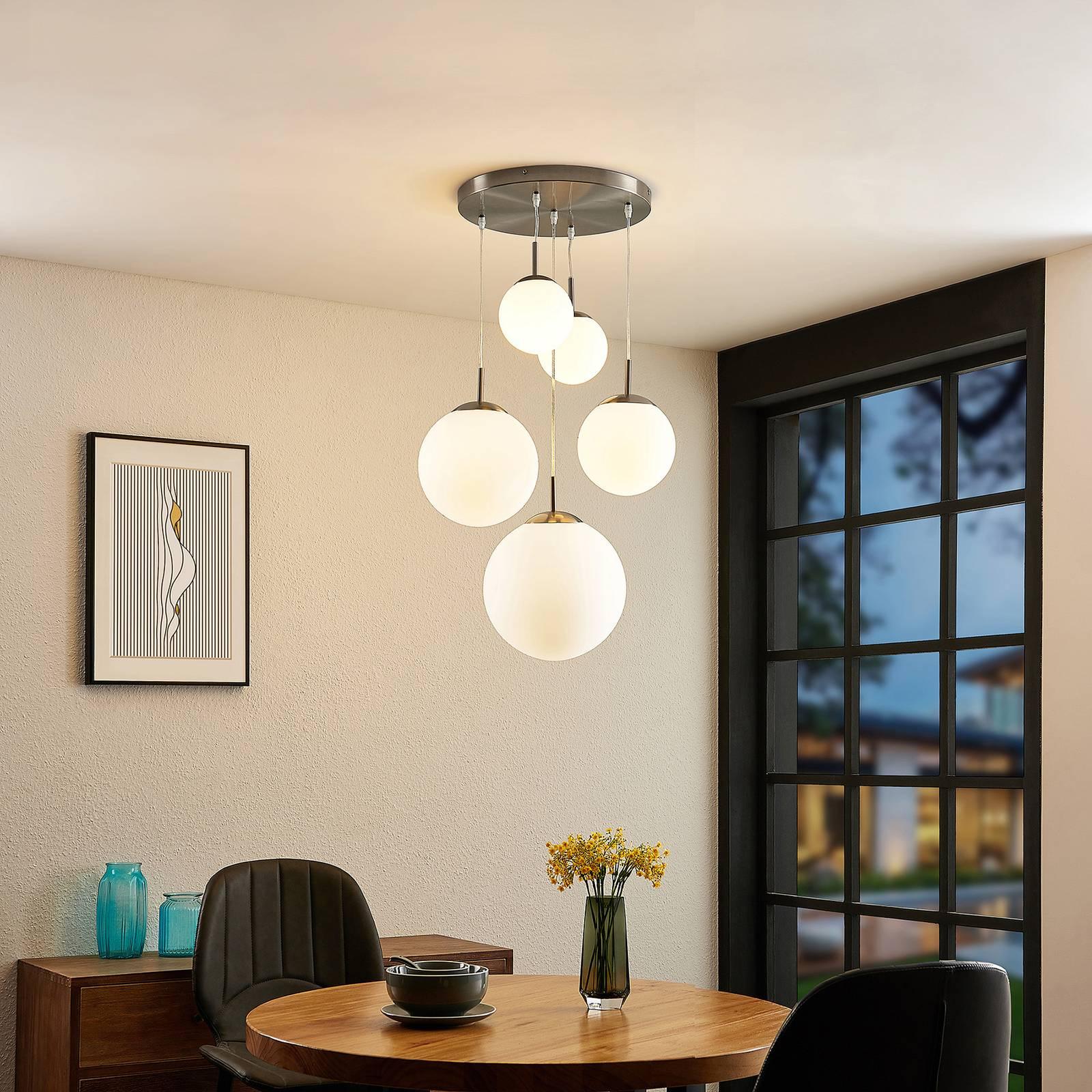 Lindby Heleska -riippuvalaisin, viisilamppuinen