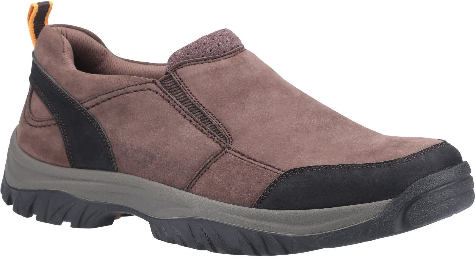 Cotswold Men's Boxwell Slip On Hiking Shoe Various Colours 30149 - Brown 7