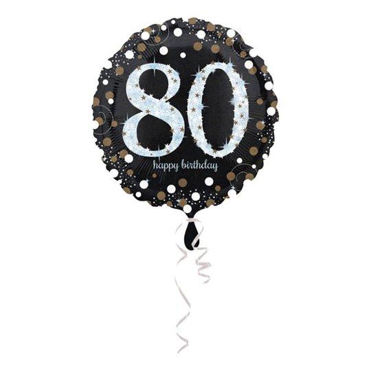 Folieballong Happy Birthday 80 Glitter - 1-pack