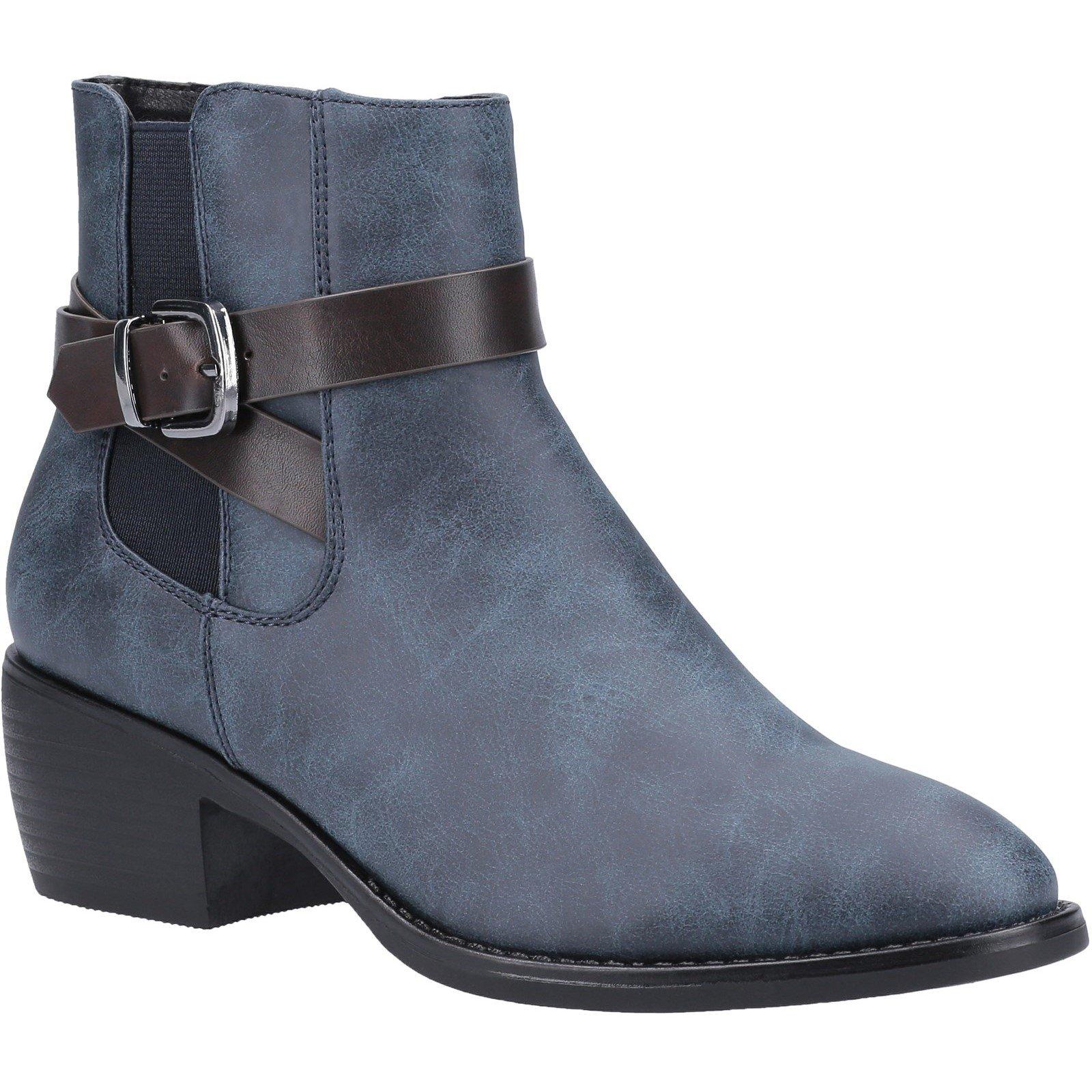 Divaz Women's Farrah Ankle Boot Various Colours 31094 - Blue 3