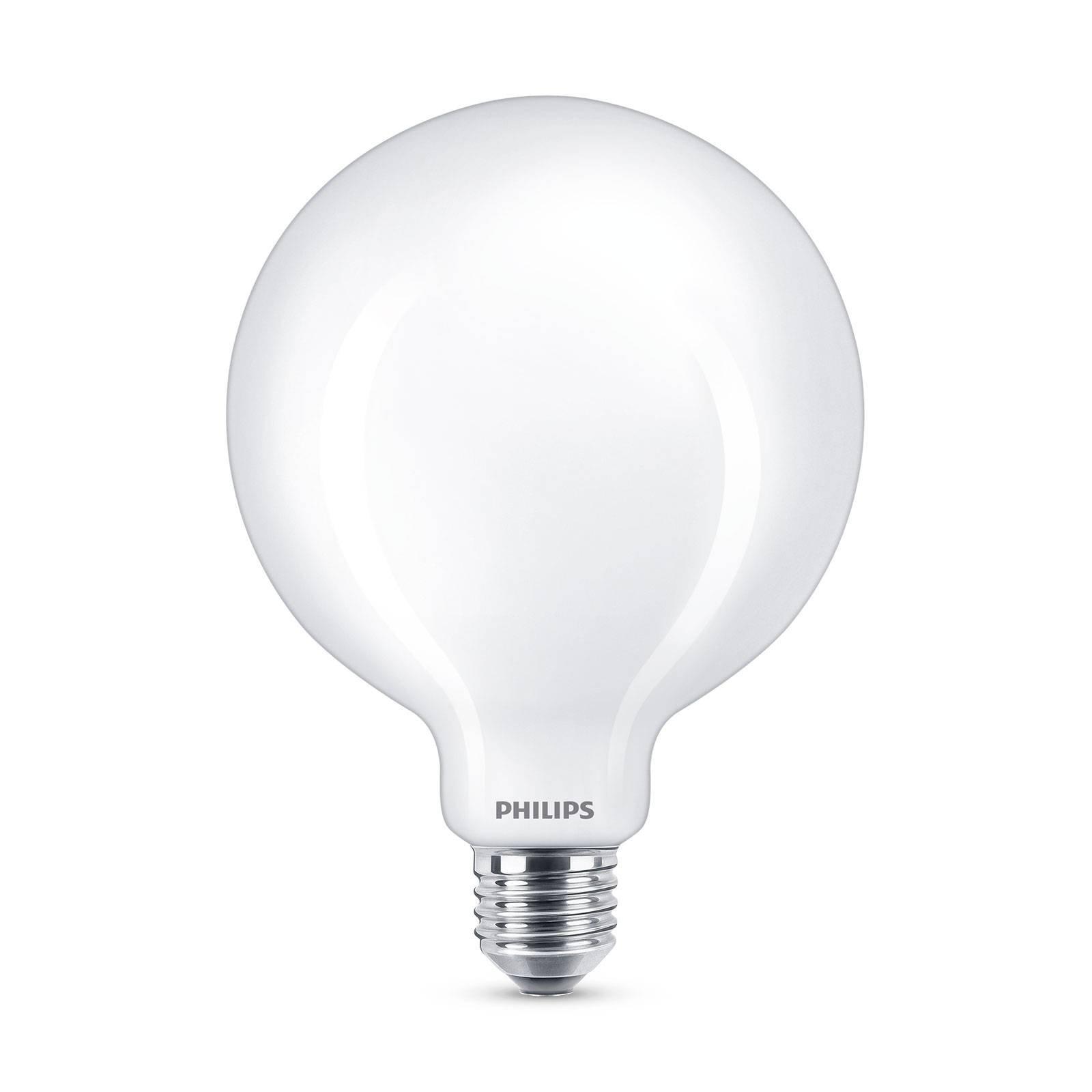 Philips Classic LED-pære E27 G120 7W matt 4 000 K
