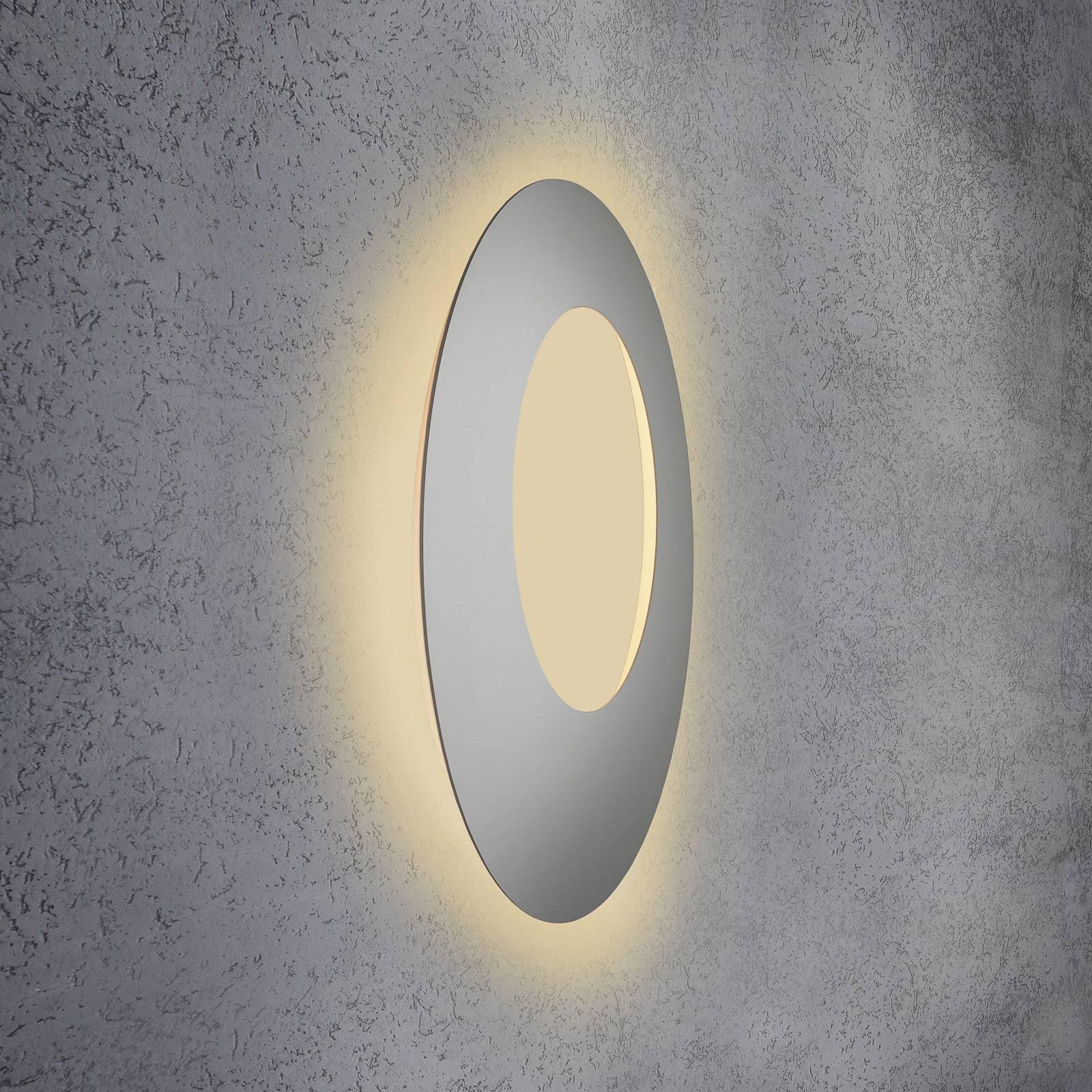 Escale Blade Open LED-vegglampe, sølv, Ø 79 cm