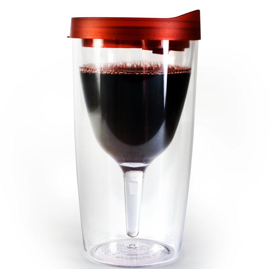 Vino2go Portable Wine Glass Merlot Red