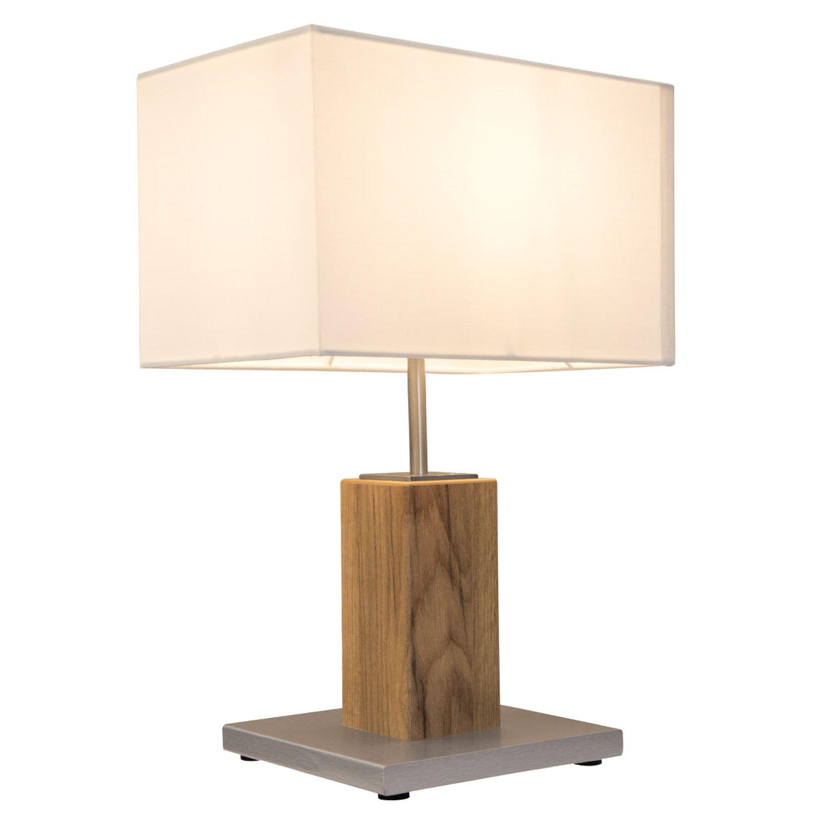 Bordlampe Gump med tekstilskjerm