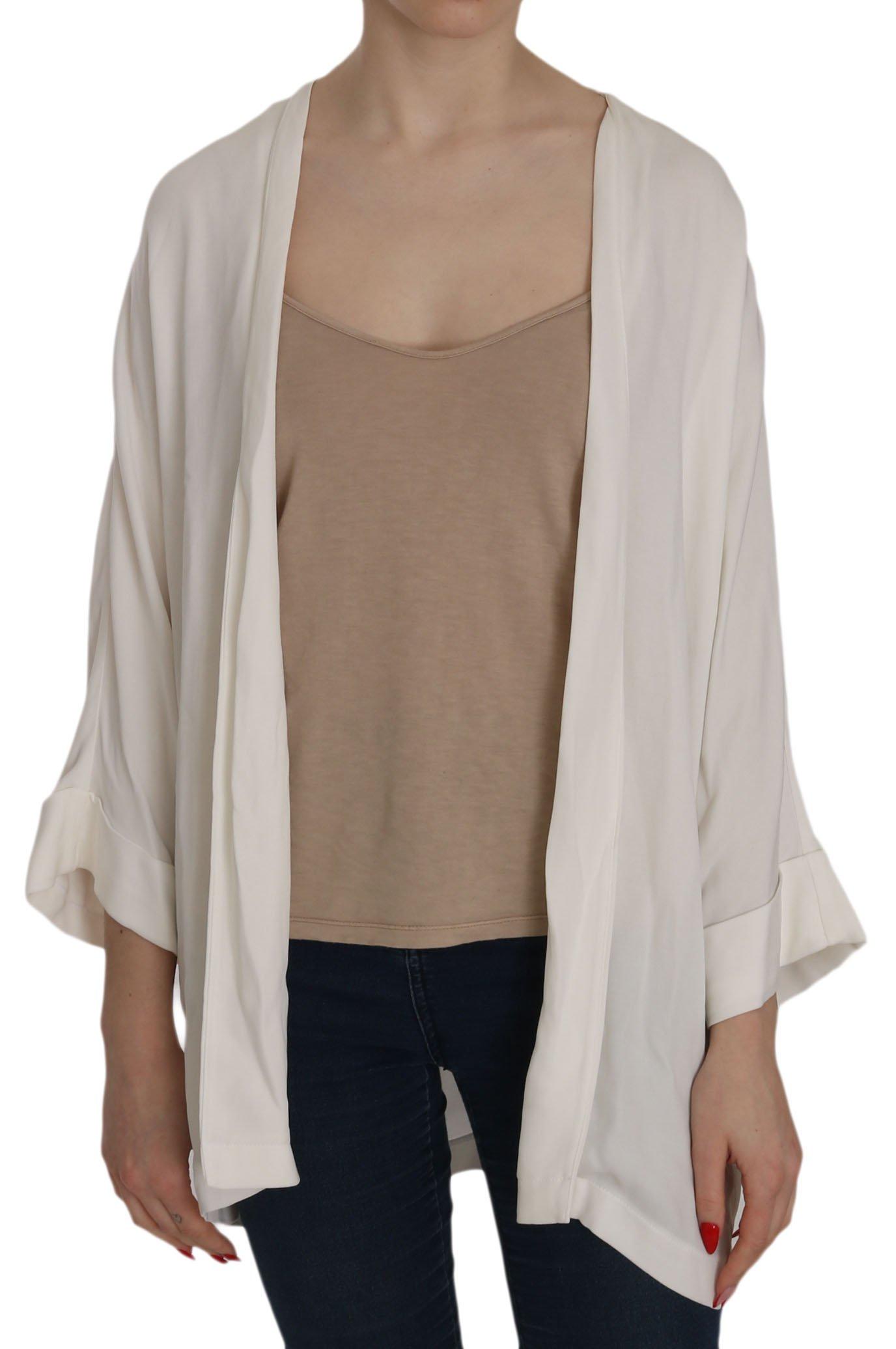 PINKO Women's Folded LS Deep Neck Top Grey TSH3730 - IT38|XS