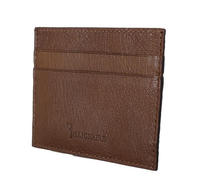Billionaire Italian Couture Men's Leather Bifold Wallet Brown VAS1447