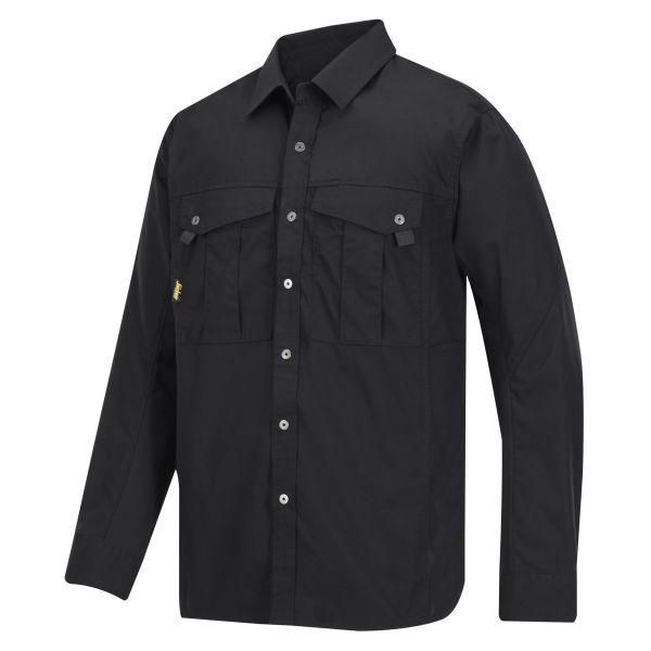Snickers 8508 Skjorte svart, med lange ermer XS