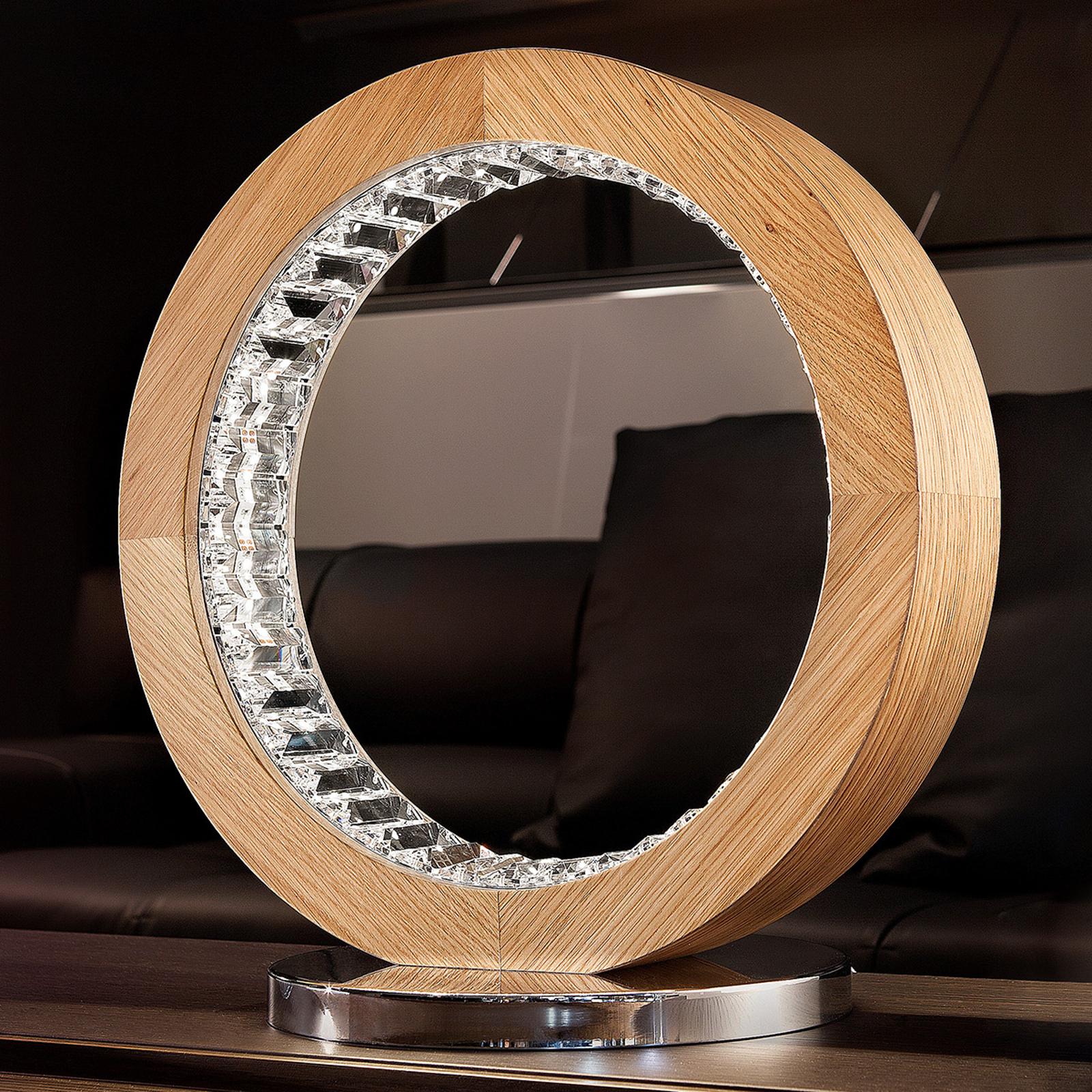 Hienostunut LED-pöytävalaisin Libe Round TL40