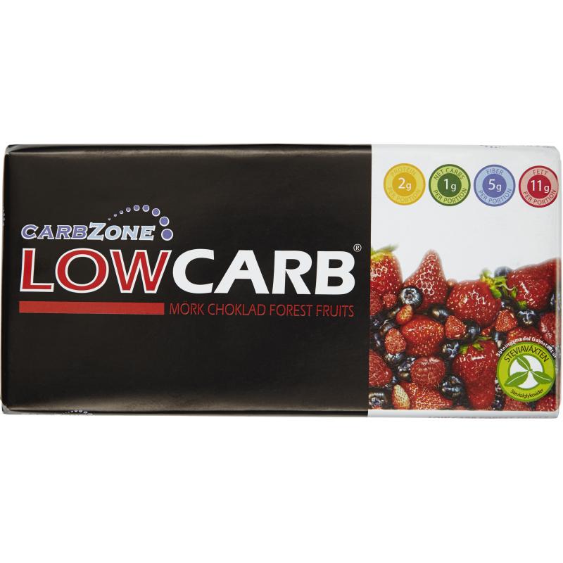 "Mörk Choklad ""Low Carb Forest Fruits"" 125g - 76% rabatt"