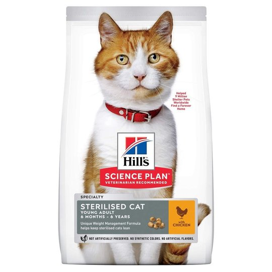 Hill's Science Plan Cat Young Adult Sterilised Chicken (1,5 kg)