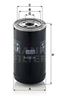 Öljynsuodatin MANN-FILTER W 950/18