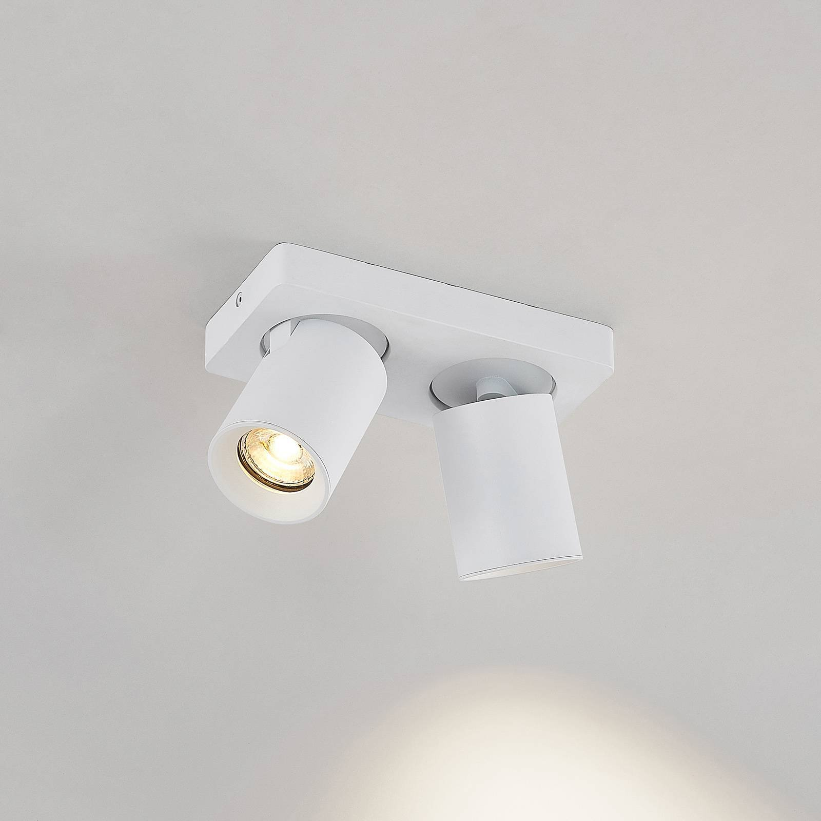 Arcchio Leevya taklampe 2 lyskilder hvit