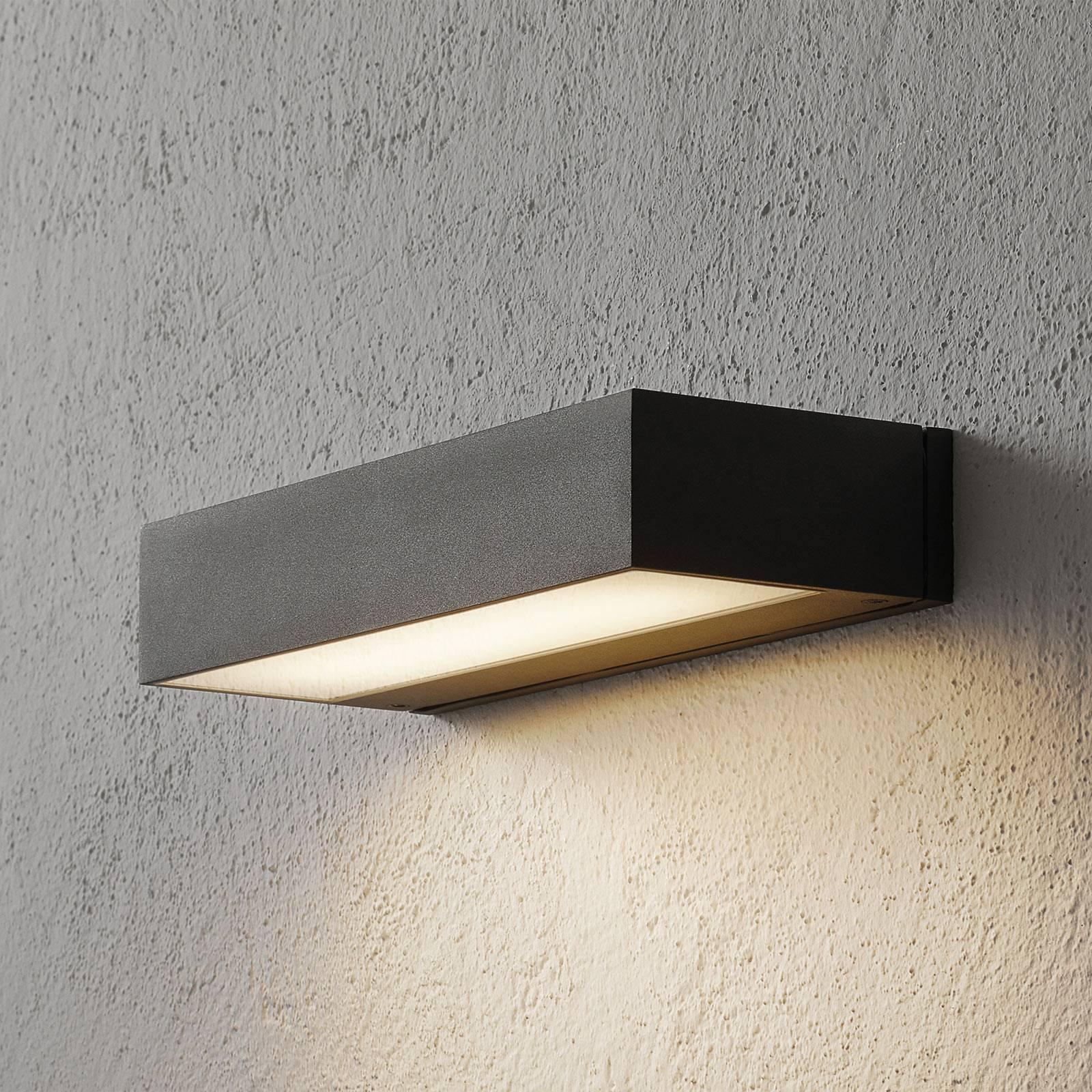 BEGA 33329 LED-vegglampe, 3 000 K, 30 cm down sølv