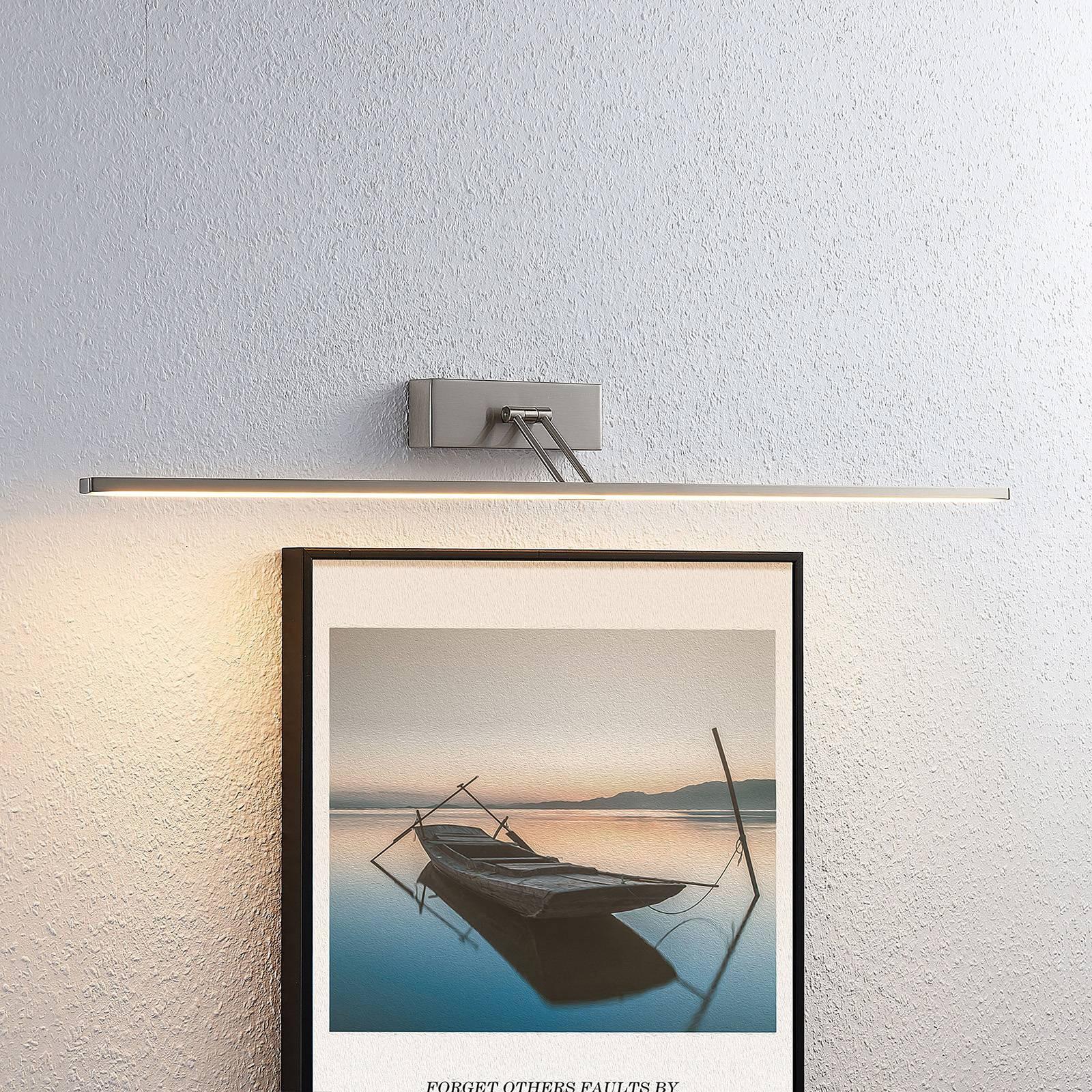 Lucande Thibaud LED-bildelampe, nikkel 83,4 cm