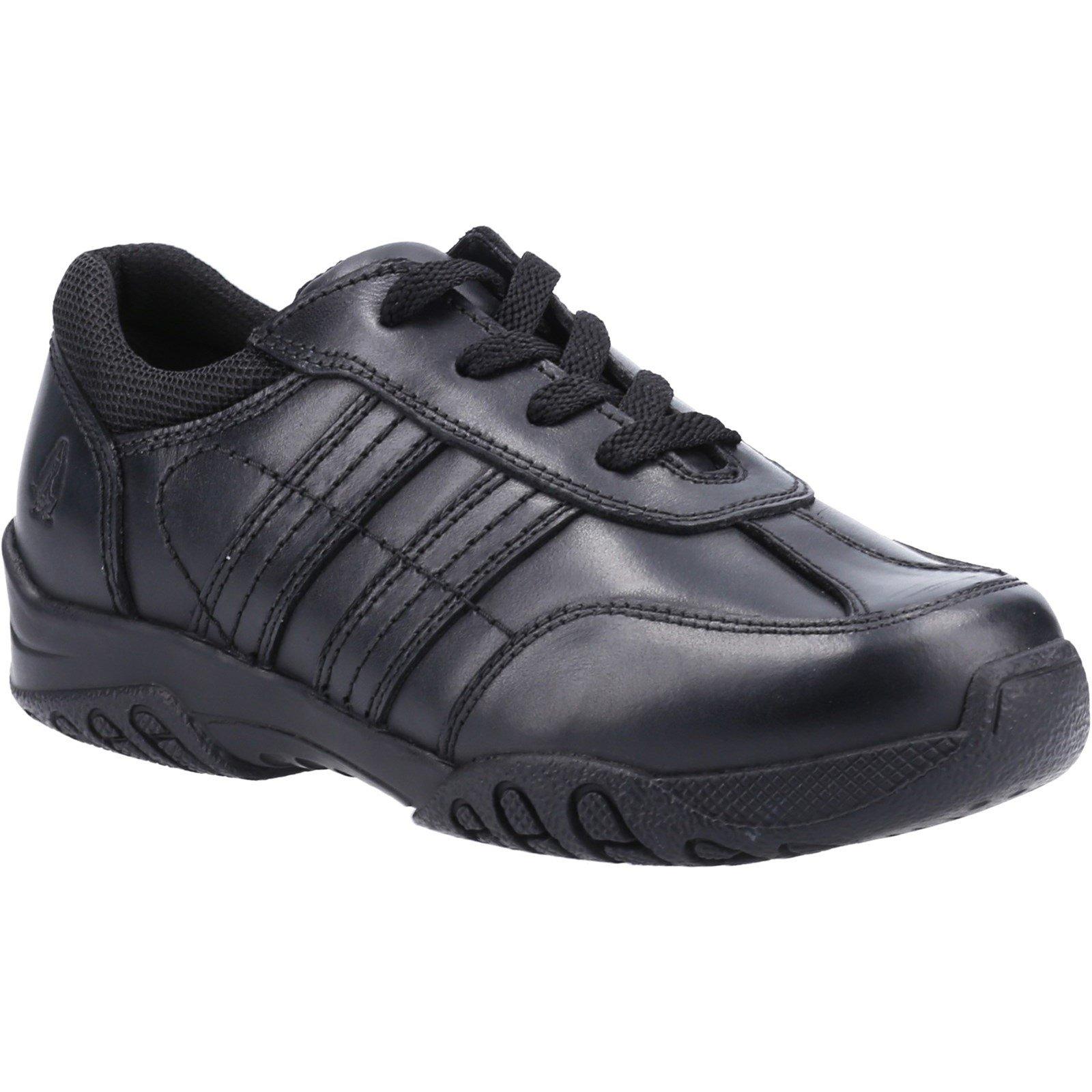 Hush Puppies Kid's Jezza2 Junior School Shoe Black 32606 - Black 12