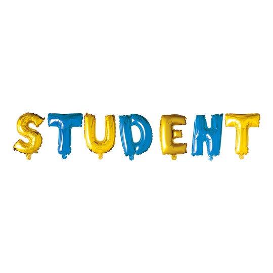 Ballonggirlang Student Blå/Gul