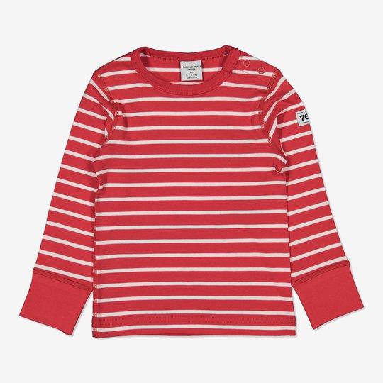 Genser stripet baby rød
