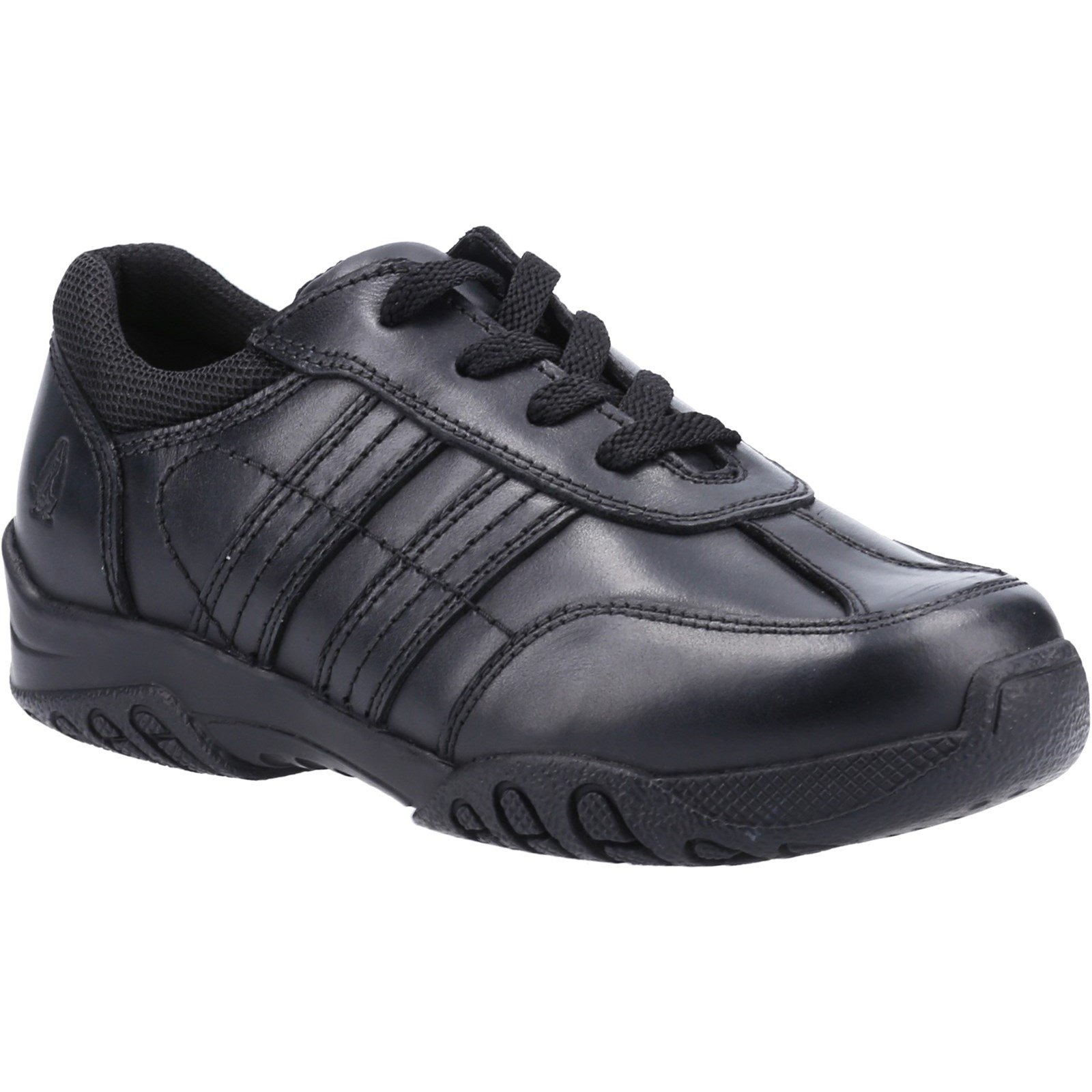 Hush Puppies Kid's Jezza2 Junior School Shoe Black 32606 - Black 13