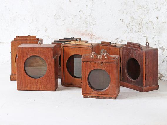 Vintage Wooden Clock Case Brown