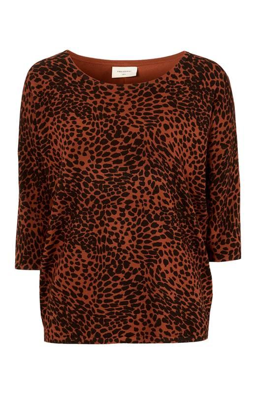 Freequent Leopardmönstrad tröja Jone Rost Mönstrad