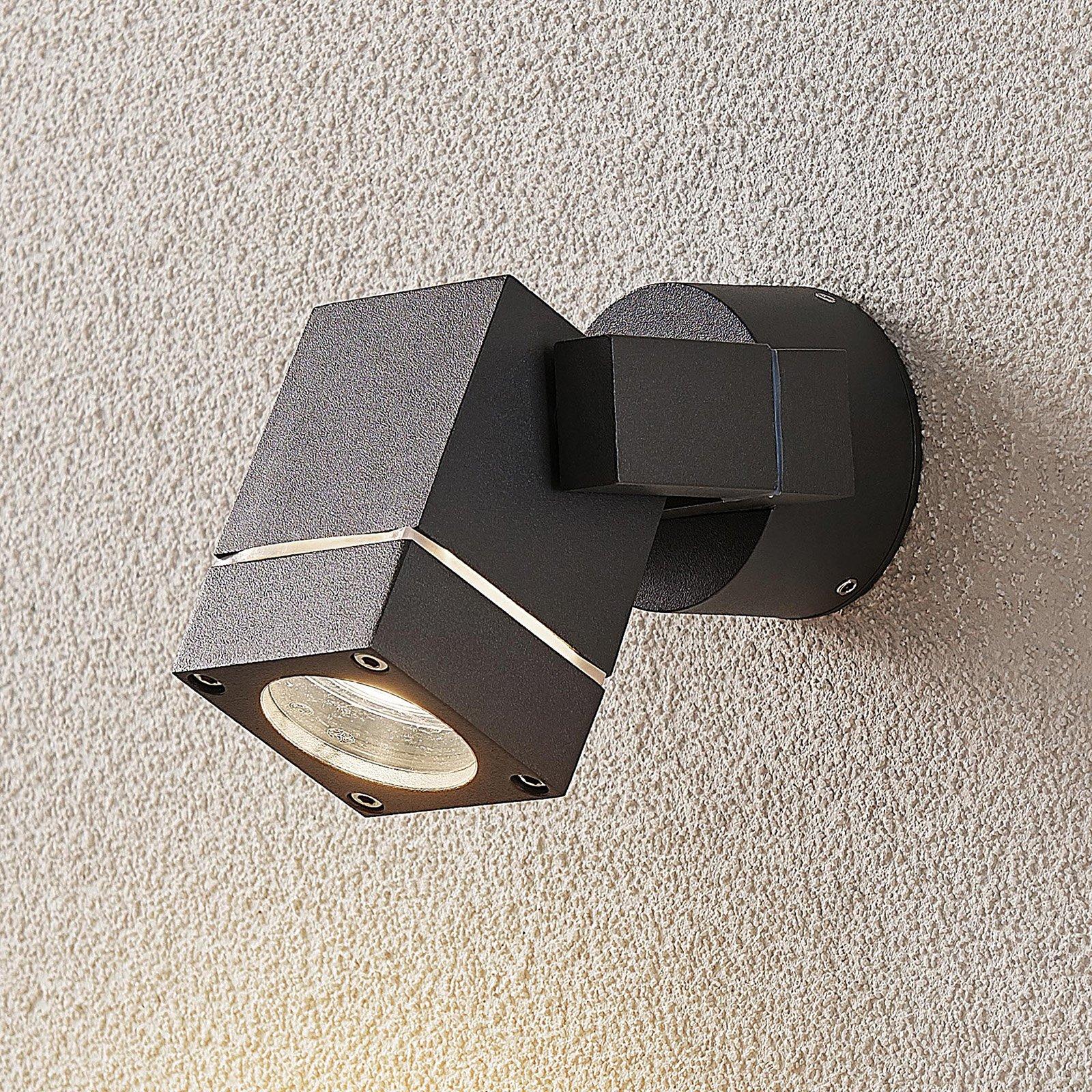 Utespot Kavuna, mørk grå IP54, kantet