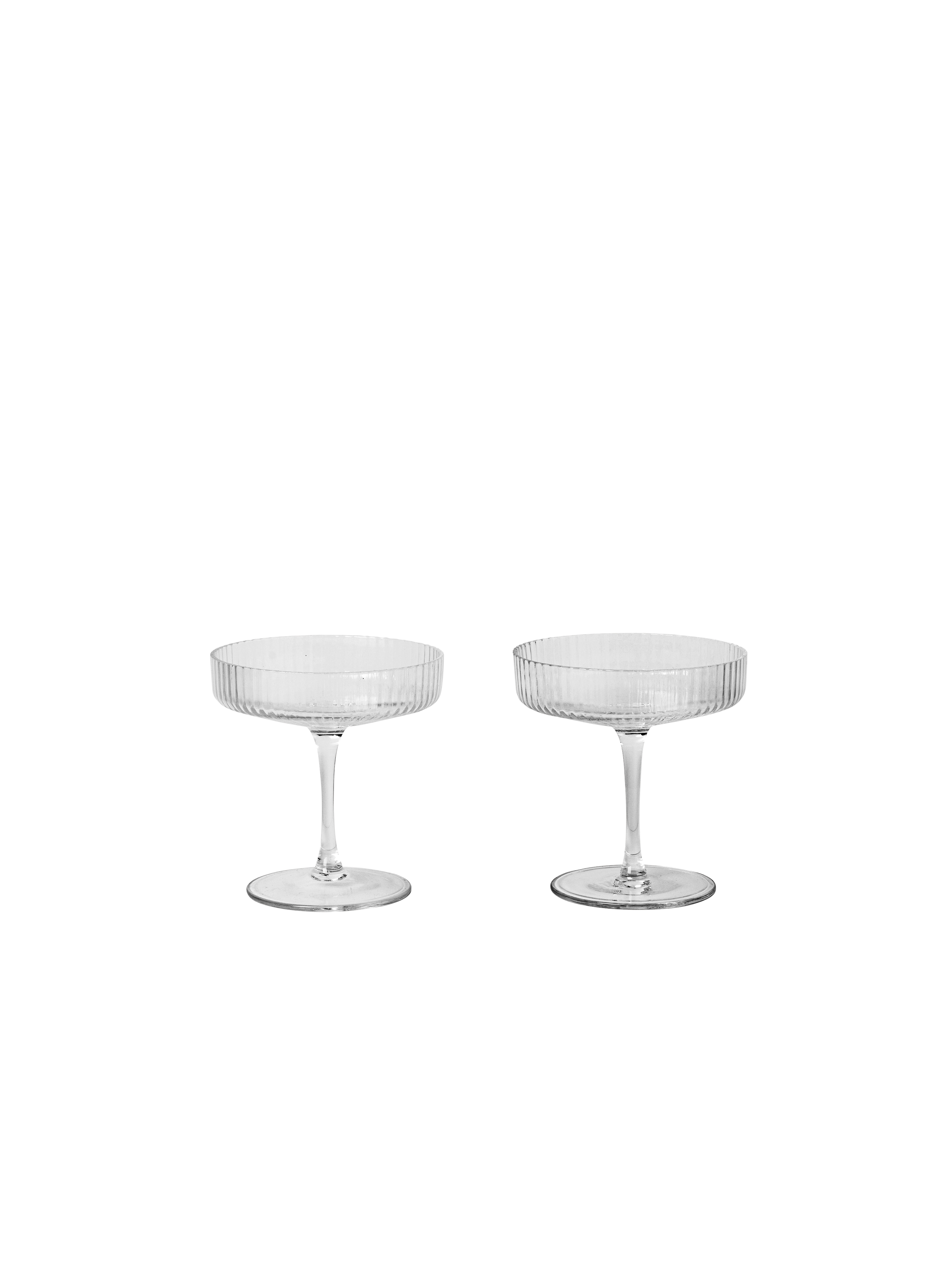 Ferm Living - Ripple Champagne Glass Set Of 2 - Clear (5444)