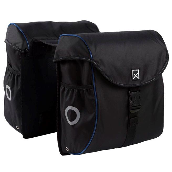 vidaXL Cykelväska 38 L svart och blå