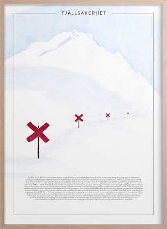 Fjellvett Poster30x40 cm