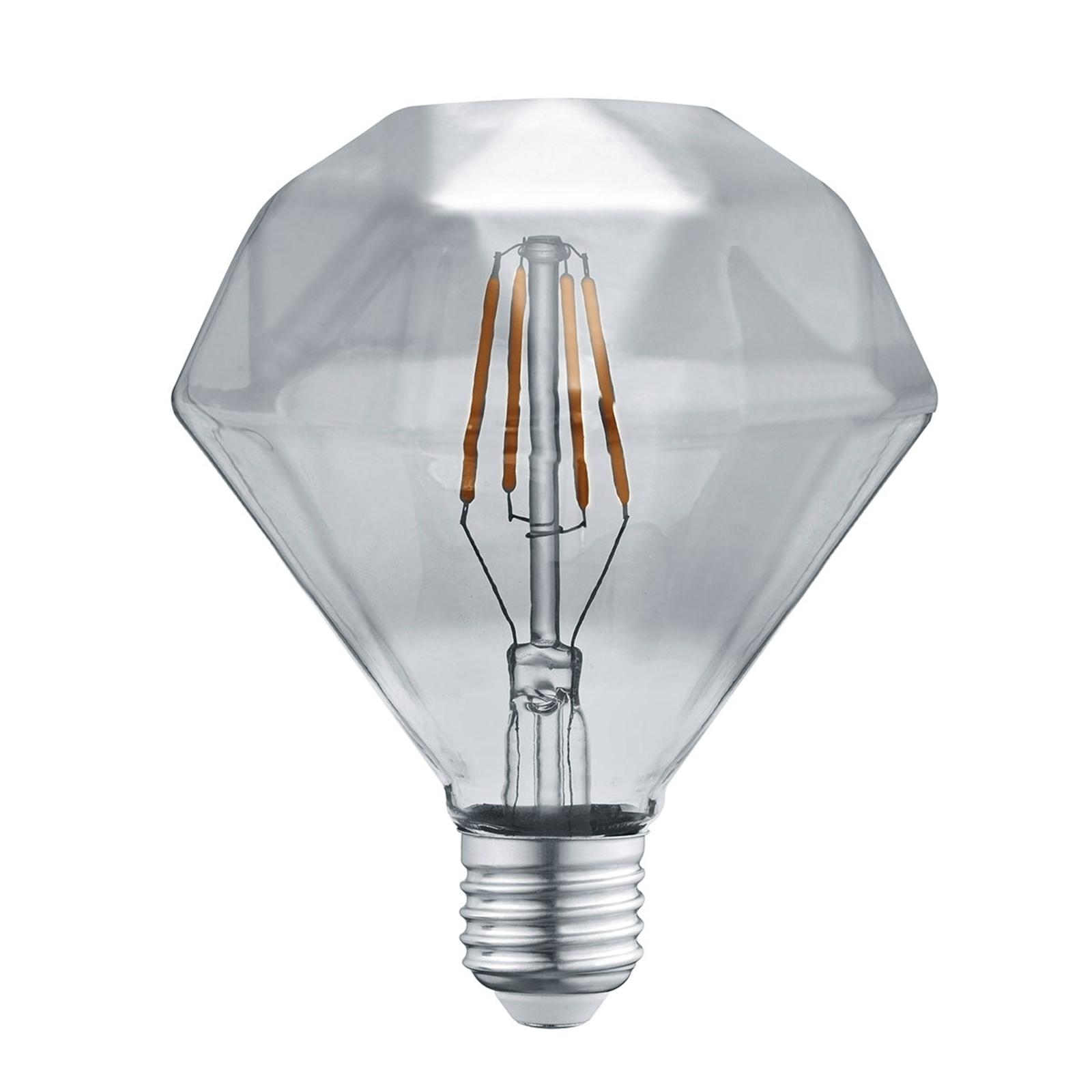 LED-lamppu E27 4W 3 000 K timantti-filamentti
