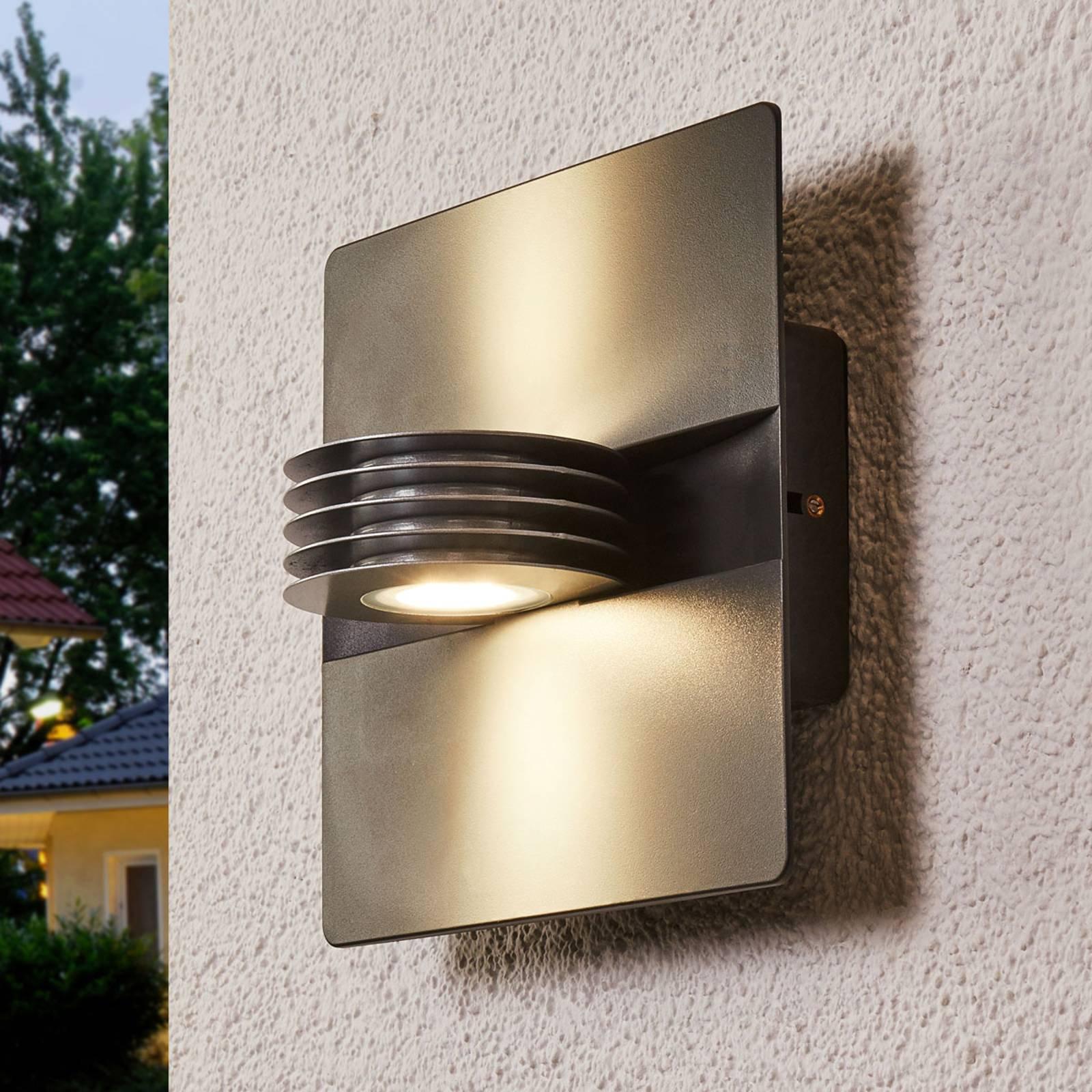 Antrasittfarget utendørs LED-vegglampe Split