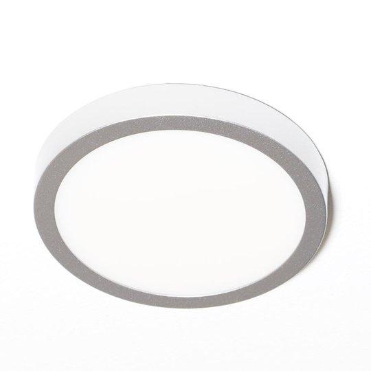 LED-kattovalaisin Vika, pyöreä, mattatitaani Ø18cm