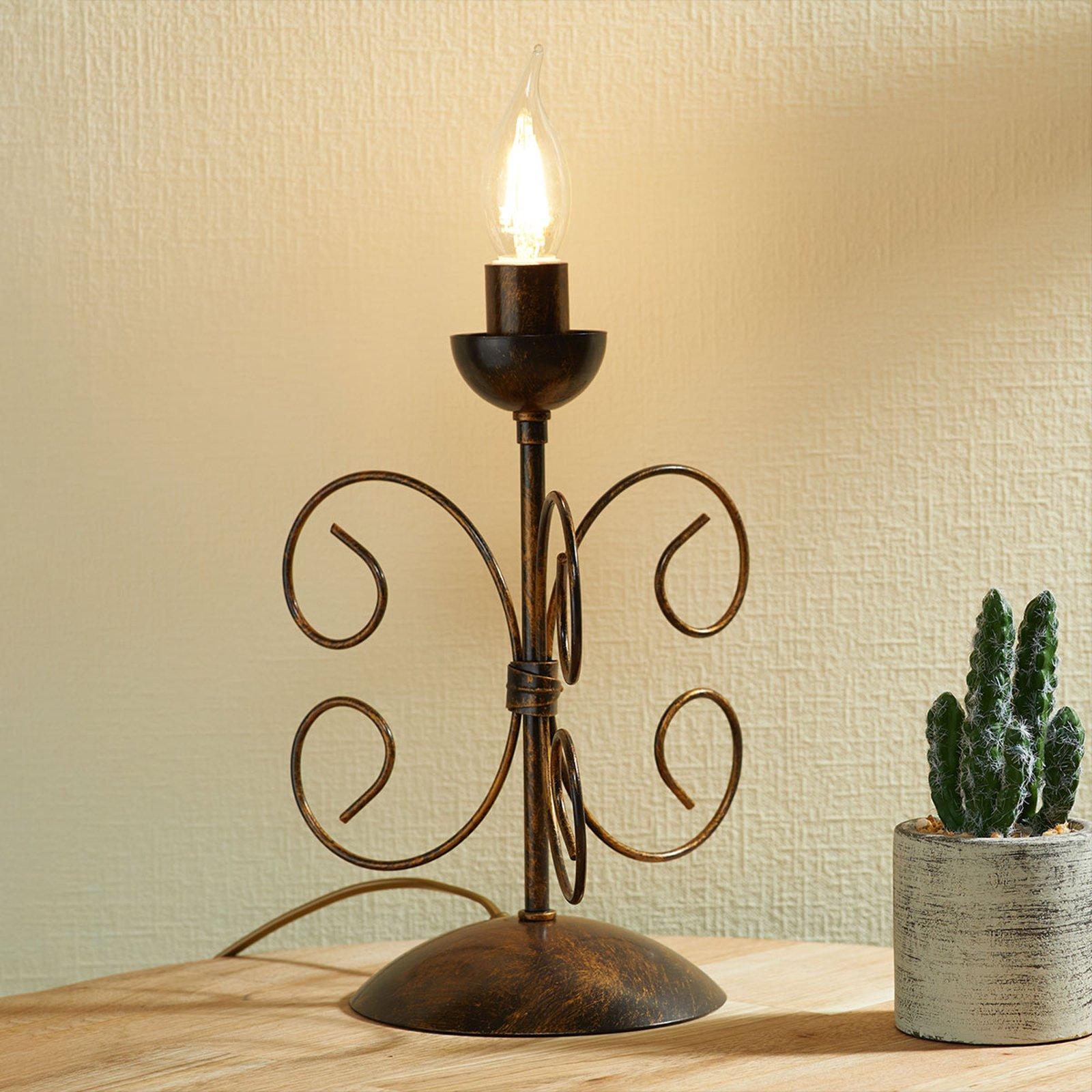 Bordlampe Ennio, antikt gull