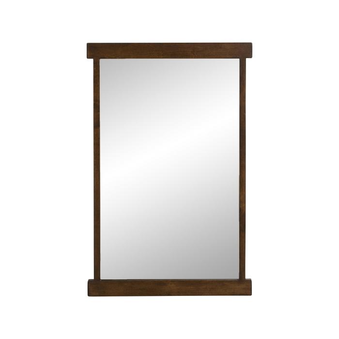 Spegel mörk träram 80 cm Nordal