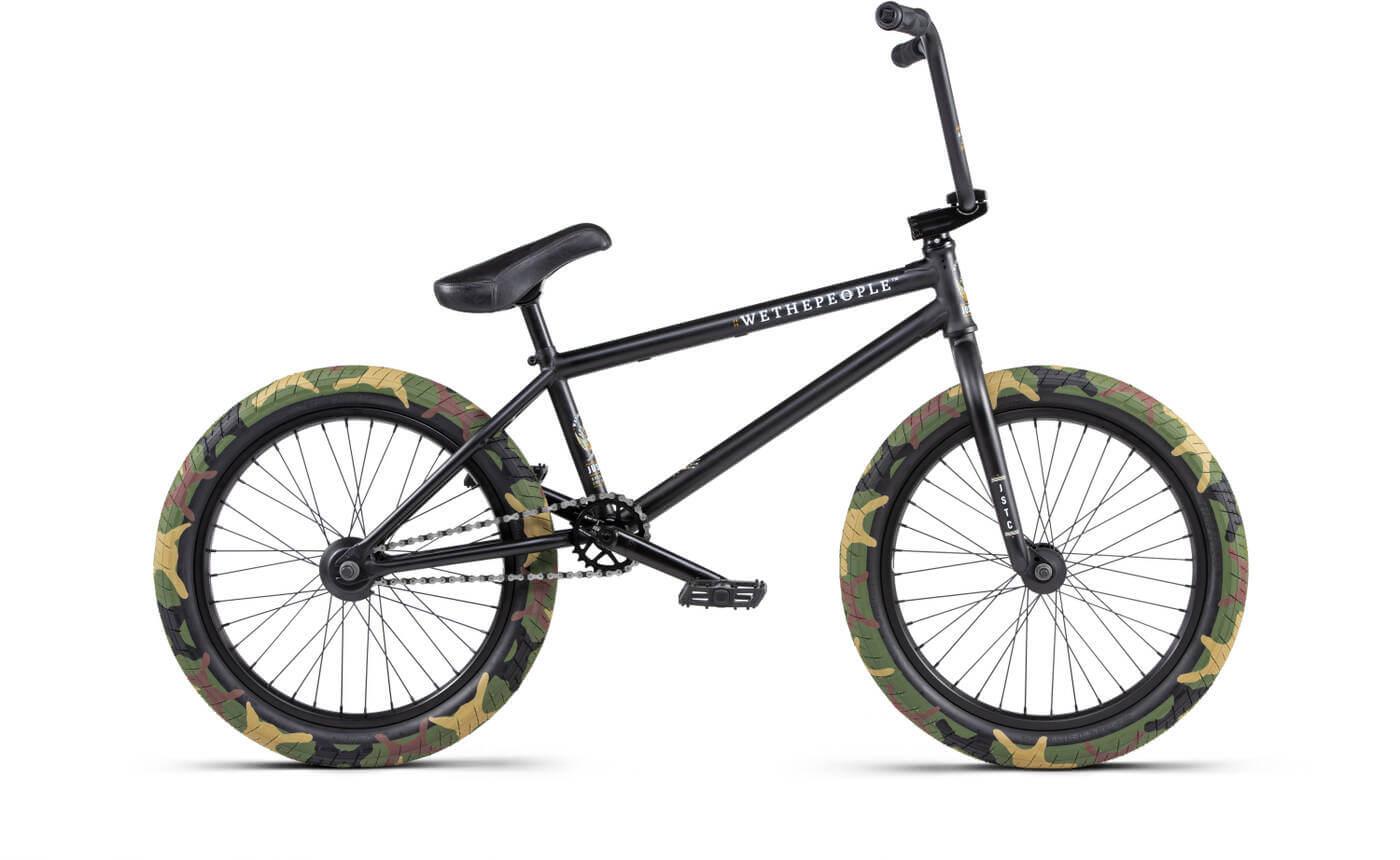 "Wethepeople Justice 20"" 2020 Freestyle BMX Cykel 20.75"" Matt Black"