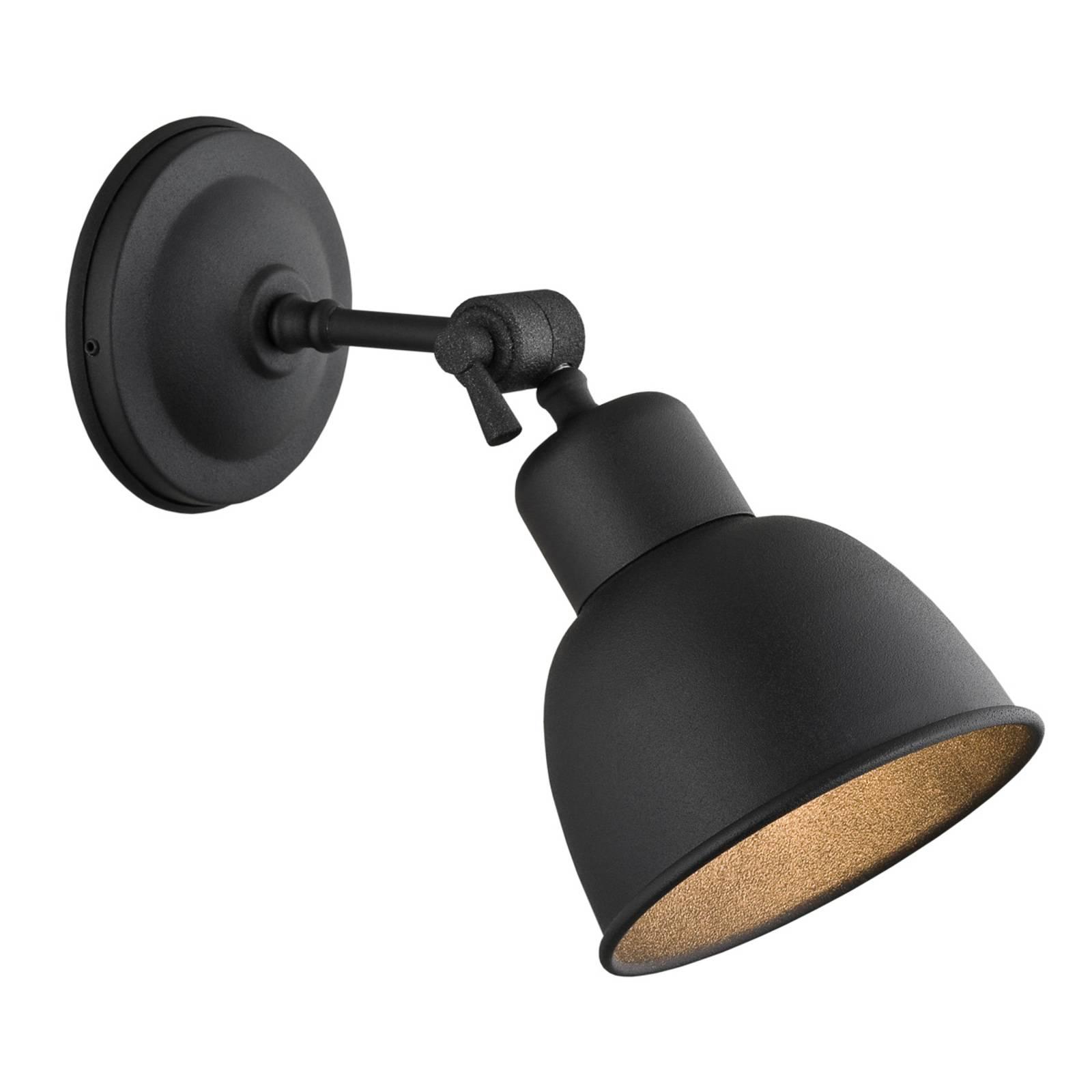 Seinävalaisin Emoti, 1-lamppuinen, musta
