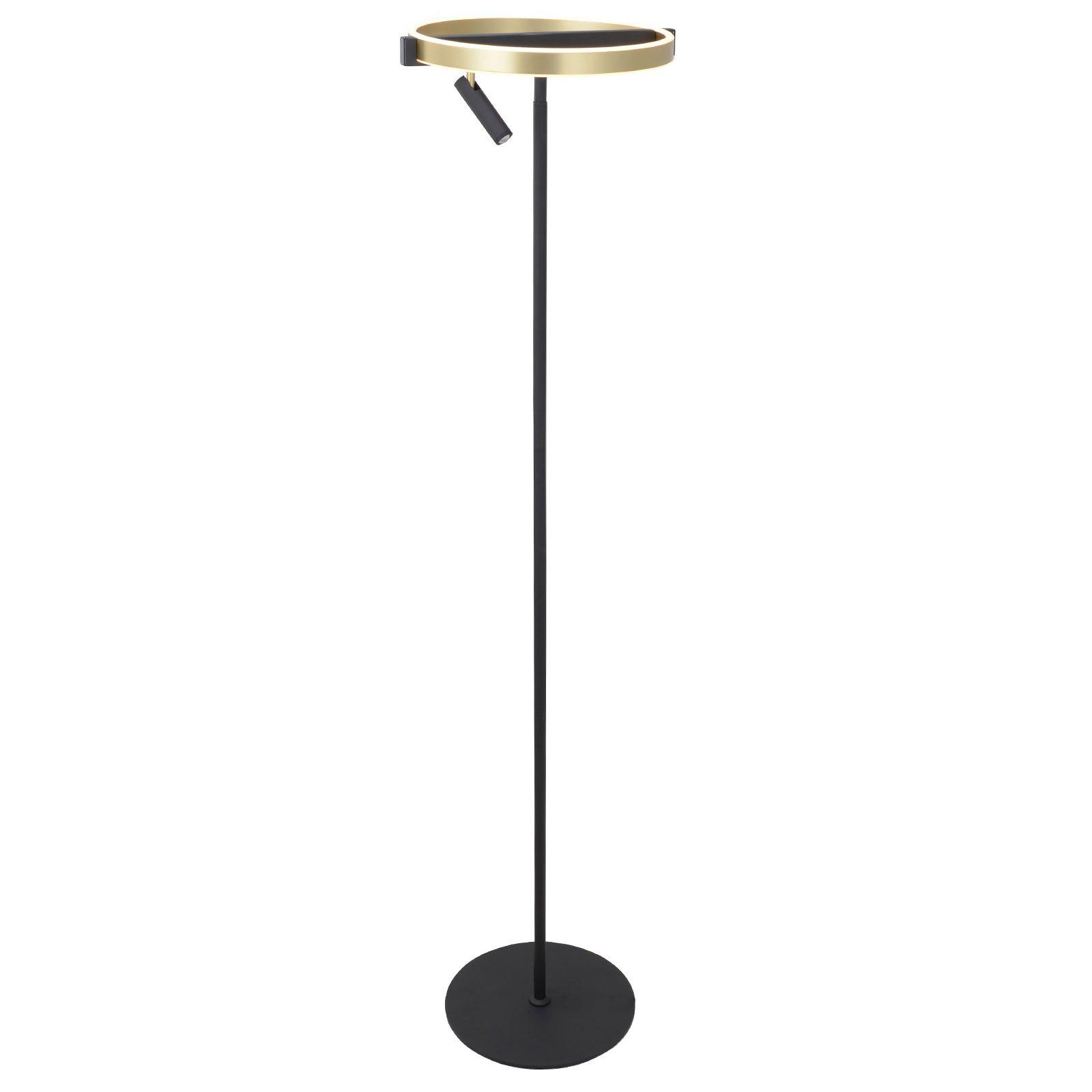 Lucande Matwei LED-gulvlampe, ringformet, messing