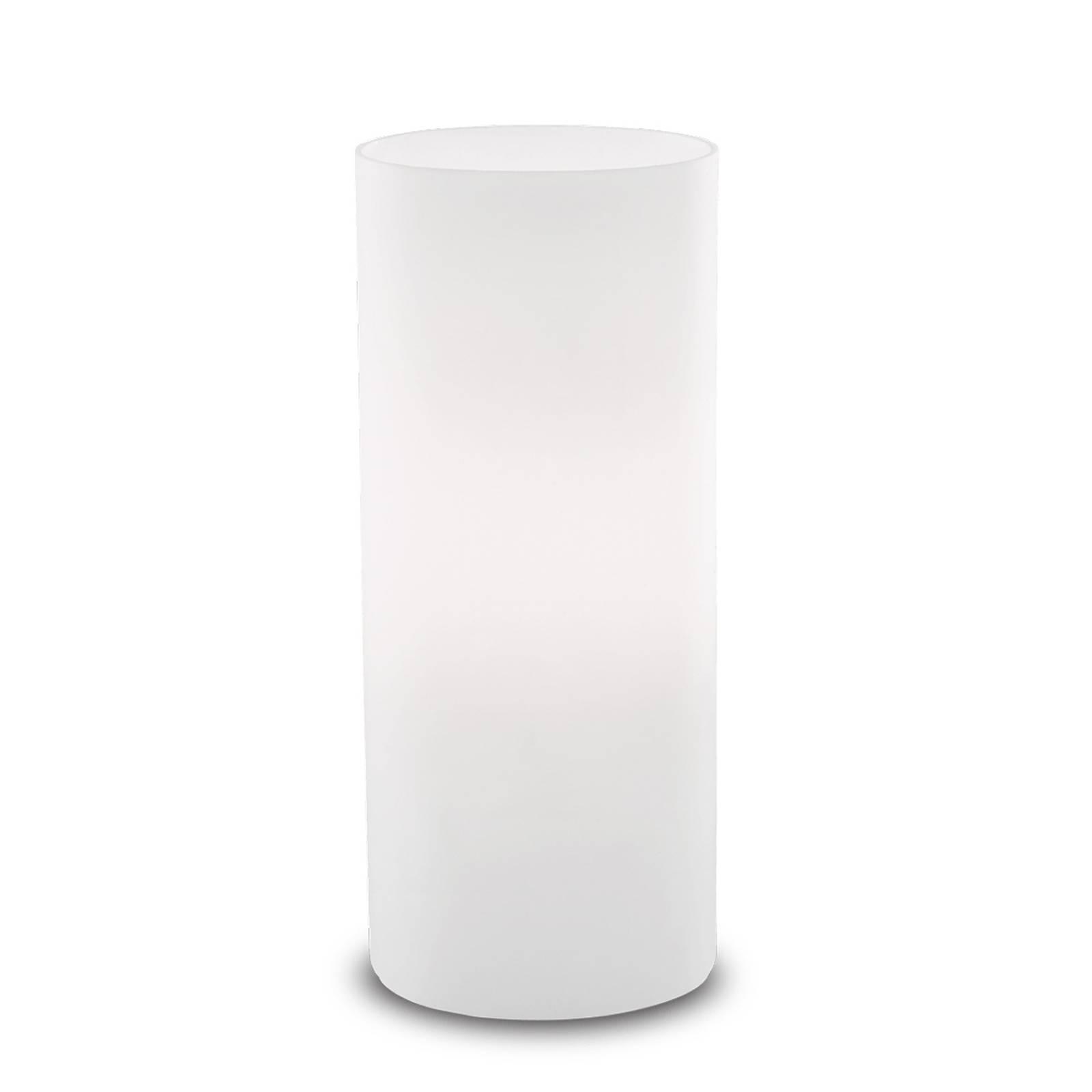 Pöytävalaisin Edo valkoista lasia, korkeus 23 cm