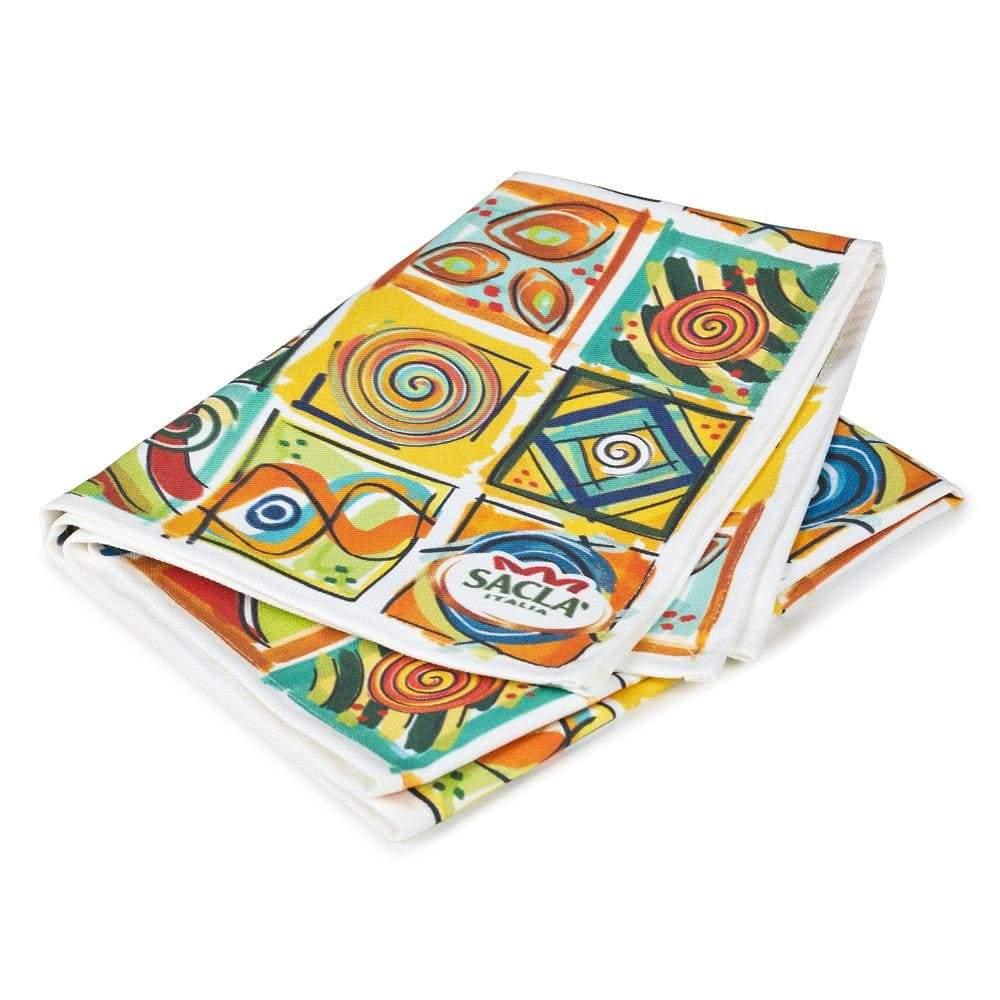 Sacla' Patterned Tea Towel