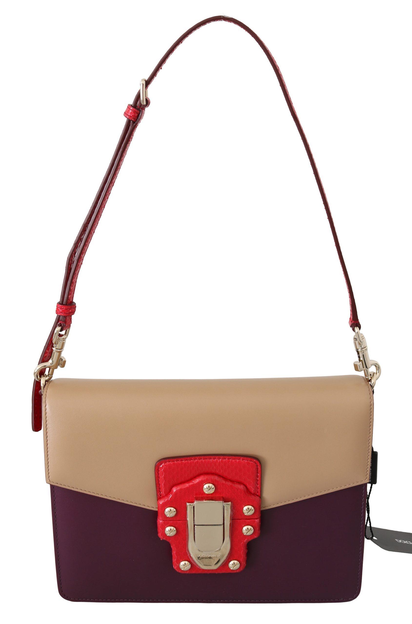 Dolce & Gabbana Women's Leather Shoulder Bag Purple VAS8681