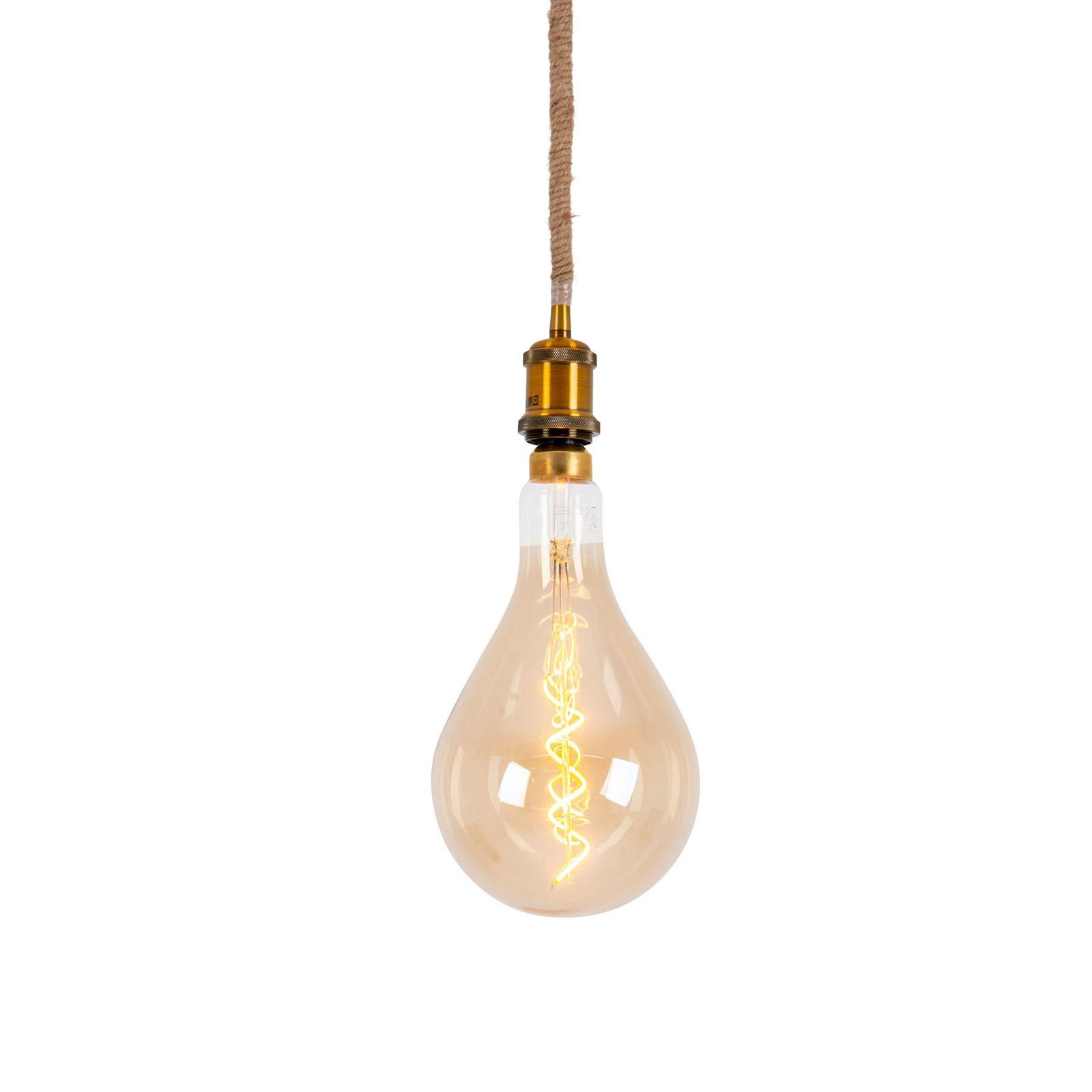 LED-riippuvalaisin Ontario, hamppuköysi, 1 lamppu