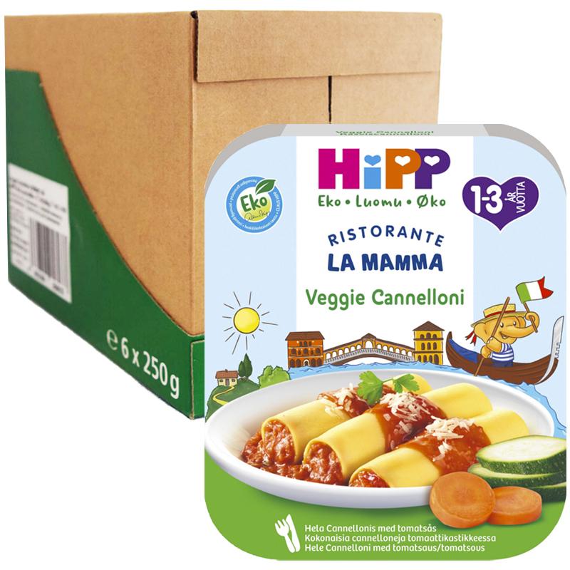 """Laatikollinen Lastenruokaa """"Canneloni & Vihannekset"""" 6 x 250g - 44% alennus"""